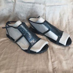 Cole Haan Sharapova Nike Air Metal Sandals 8.5